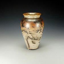Horsehair Raku Vessel #13 by Lance Timco (Ceramic Vessel)