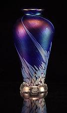 Flower Bud - Ocean by Corey Silverman (Art Glass Vase)