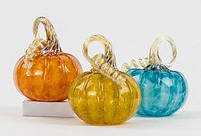 Pop Color Pumpkins by Corey Silverman (Art Glass Sculpture)