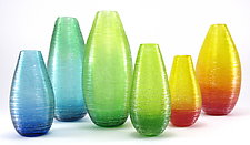 Shimmer Vases in Brights by Corey Silverman (Art Glass Vase)