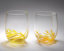 Vino Breve Glasses by Corey Silverman (Art Glass Drinkware)