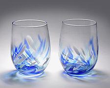 Vino Breve Glasses by Corey Silverman (Art Glass Drinkware)