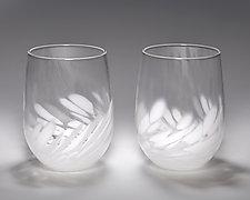 Vino Breve Glasses by Corey Silverman (Art Glass Tumblers)
