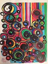 Great Big Curls, Skin #9 by Melissa Leaym-Fernandez (Watercolor Painting)