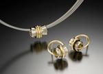 Orbit Pendant & Earrings by Gabriel Ofiesh (Gold & Stone Pendant)