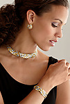 18K on Sterling Hand-Woven Choker by Gabriel Ofiesh (Gold & Silver Necklace)