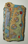 In Search Of by Janine Sopp (Ceramic Wall Sculpture)