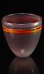 Elephant & Fire Bell Sandstone by Corey Silverman (Art Glass Vase)