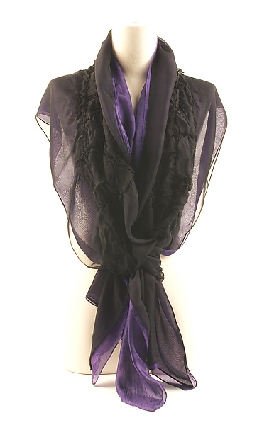 Jewel Silk Chiffon Truffle Scarves