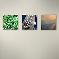 Grass Divide Sunset Triptych by John Boak (Photograph on Aluminum)