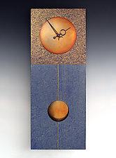 Jane Pendulum Clock in Blue by Leonie  Lacouette (Wood Clock)