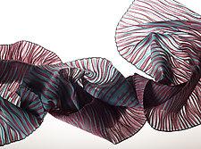Accordion Drape Pleats Scarf by Yuh Okano (Woven Scarf)