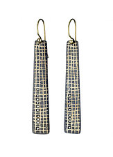 Scribble Grid Earrings by Heather Guidero (Gold, Silver & Stone Earrings)