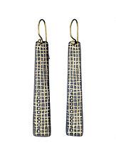 Scribble Grid Earrings by Heather Guidero (Gold, Silver & Stone Earrings)