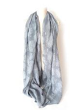 Dandelion Fluff Pattern Silk Shawl by Yuh Okano  (Silk Scarf)