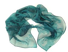 Mini Light & Shiny Silk Scarf by Yuh  Okano (Silk Scarf)