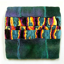 Colorplay X by Sharron Parker (Fiber Wall Hanging)