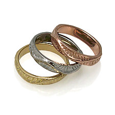 Sand Dune Band Rings by Keiko Mita (Gold & Palladium Rings)