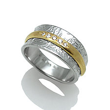 Double Band Ring by Keiko Mita (Gold & Silver Ring)