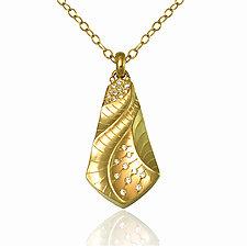 Kite Pendant by Keiko Mita (Gold & Stone Necklace)