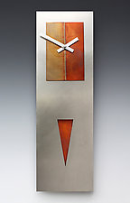 Steel Spike Pendulum Clock by Leonie  Lacouette (Metal Clock)