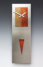 Steel Spike Pendulum Clock by Leonie  Lacouette (Metal Clock)