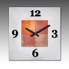 Kitchen Steel by Leonie  Lacouette (Metal Clock)