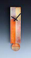 Lena Pendulum Clock by Leonie  Lacouette (Metal Clock)