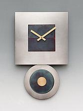 Steel Dan Pendulum Clock by Leonie  Lacouette (Metal Clock)