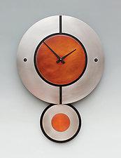 Zaki Pendulum Clock by Leonie  Lacouette (Metal Clock)
