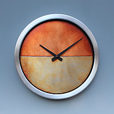 Nate Wall Clock by Leonie  Lacouette (Metal Clock)