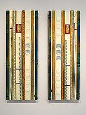 Vanilla White Wall Panels by Mark Ditzler (Art Glass Wall Sculpture)