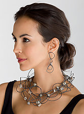 Tangle Half-Circle Necklace & Earrings - Jasper by Heather Guidero (Silver & Stone Jewelry)