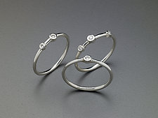 Diamond Stacking Rings by Heather Guidero (Silver & Stone Ring)