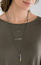 Scribble Collection Necklaces by Heather Guidero (Silver Necklace)