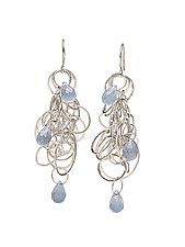 Tangle Earrings by Heather Guidero (Silver & Stone Earrings)