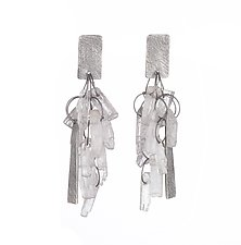 Carved Delicate Tangle Earrings by Heather Guidero (Silver & Stone Earrings)