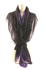 Jewel Silk Chiffon Truffle Scarves by Yuh  Okano (Silk Scarf)