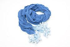 Epidermis Ocean Blue Scarf by Yuh  Okano (Silk Scarf)