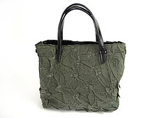 Toto Handbag in Matte Sage by Yuh Okano (Shibori Purse)