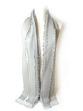 Silk & Wool Stripes Scarf by Yuh Okano (Silk & Wool Scarf)