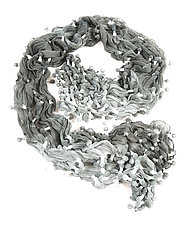 Large Epidermis Ocean Scarf by Yuh  Okano (Woven Scarf)