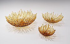 Amber Nest by Heather Palmer (Art Glass Sculpture)
