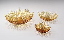 Amber Nest by Heather Palmer (Art Glass Sculpture)