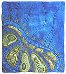 Seed Dreaming II by Karen Kamenetzky (Fiber Wall Hanging)