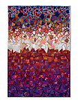 Red Storm by Laurie dill-Kocher (Fiber Wall Hanging)