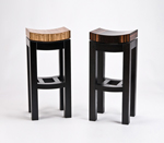 Kurve Stool by Enrico Konig (Wood Stool)