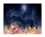 Star Dancer, Night -Black Steed by Mark Johnson (Giclee Print)