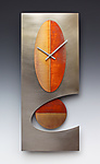 Steel 24 Oval Pendulum clock by Leonie  Lacouette (Metal Clock)