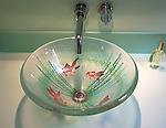 Goldfish Vessel Sink by Mark Ditzler (Art Glass Sink)